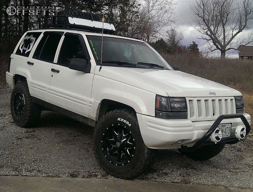 ... 4 1998 Grand Cherokee Jeep Suspension Lift 3 Mayhem Tank 8040 Black  Slightly Aggressive