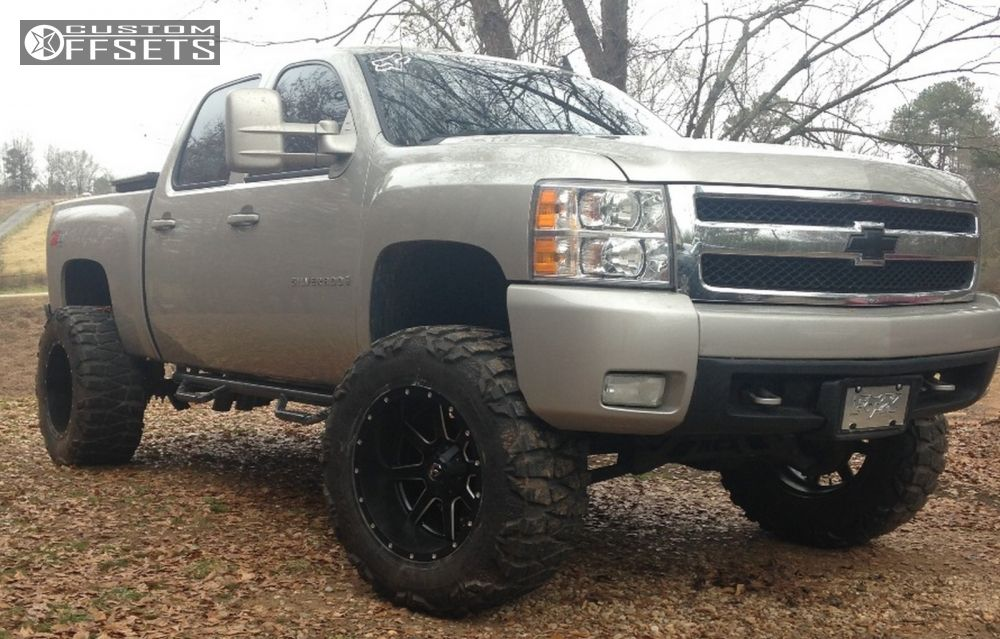 1 2008 Silverado 1500 Chevrolet Suspension Lift 75 Fuel Maverick Machined Accents Hella Stance 5