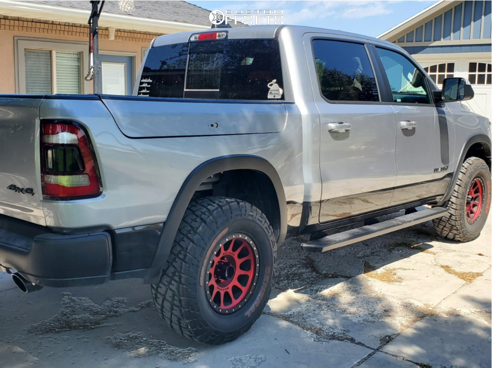 """2019 Ram 1500 Slightly Aggressive on 18x9 -12 offset Method MR305 and 35""""x12.5"""" General Grabber X3 on Leveling Kit - Custom Offsets Gallery"""