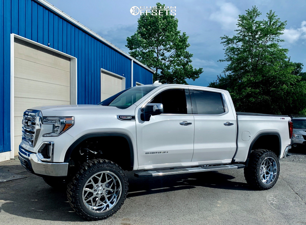 """2019 GMC Sierra 1500 Super Aggressive 3""""-5"""" on 22x12 -44 offset Axe Offroad Nemesis and 35""""x12.5"""" Federal Xplora M/t on Suspension Lift 8.5"""" - Custom Offsets Gallery"""