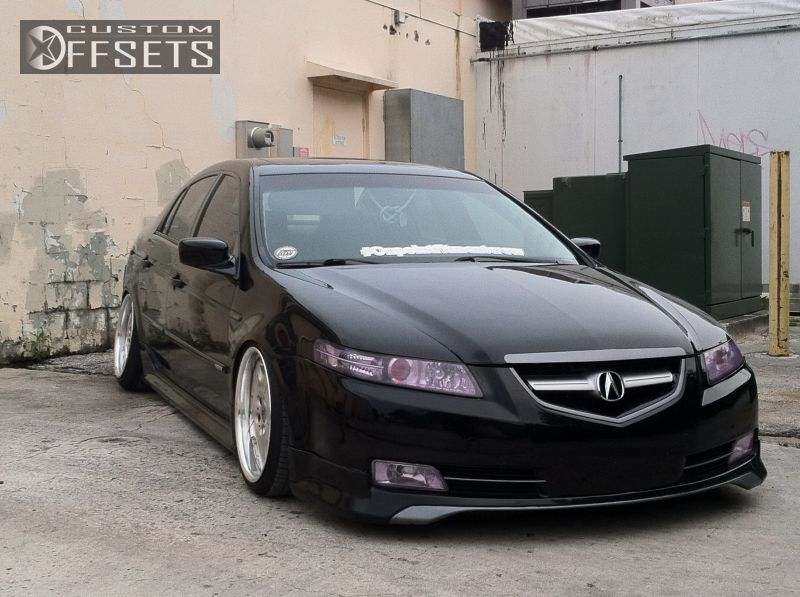 Wheel Offset Acura Tl Hellaflush Dropped Custom Rims - 2004 acura tl wheel size