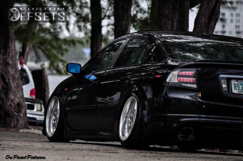 Wheel Offset Acura Tl Hellaflush Dropped Custom Rims - 2004 acura tl rims