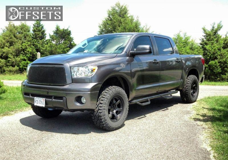 ... 1 2012 Tundra Toyota Leveling Kit Fn Wheels Bfd Black Gunmetal  Aggressive 1 Outside Fender ...