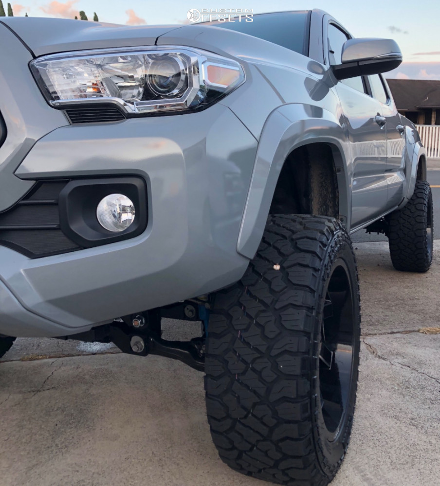 2 2020 Tacoma Toyota Rough Country Suspension Lift 4in Arkon Off Road Lincoln Black