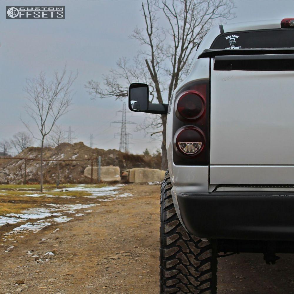 2008 Dodge Ram 1500 Xd Addict Bilstein Leveling Kit Offsets Garage Toyo At2 3 Black Aggressive 1 Outside Fender