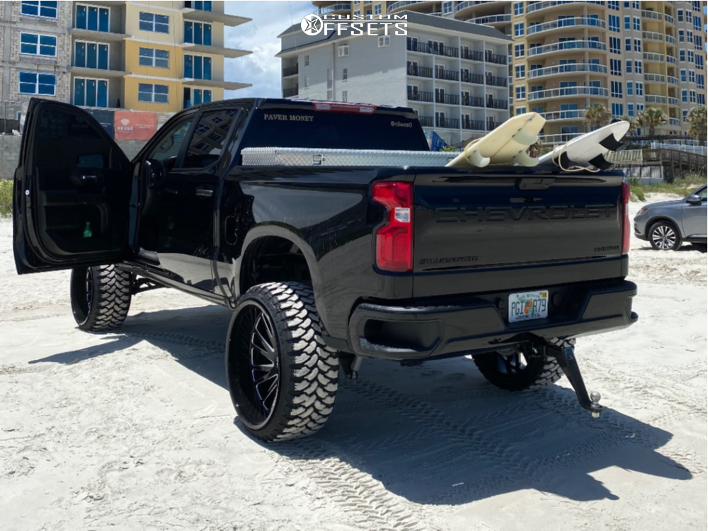 """2020 Chevrolet Silverado 1500 Super Aggressive 3""""-5"""" on 26x14 -72 offset Tuff T2a and 35""""x13.5"""" Comforser Cf3000 on Suspension Lift 8"""" - Custom Offsets Gallery"""