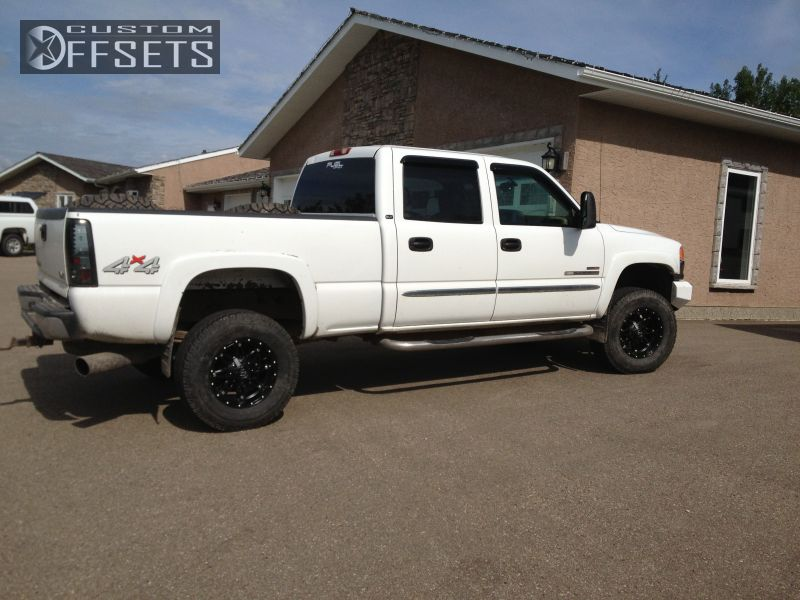 1 2003 Sierra 2500hd Gmc Leveling Kit Fuel Hostage Black Gunmetal Slightly Aggressive