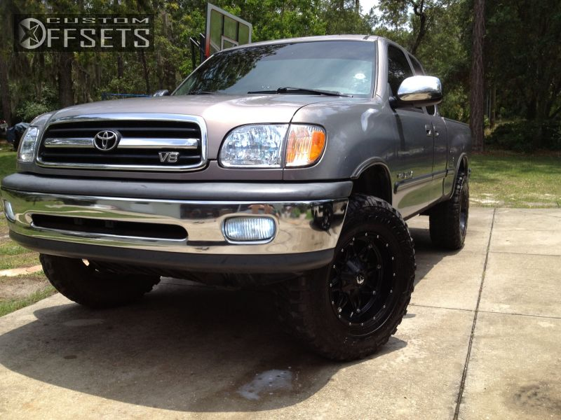 2 2001 Tundra Toyota Suspension Lift 3 Fuel Hostage Black Gunmetal Aggressive 1 Outside Fender