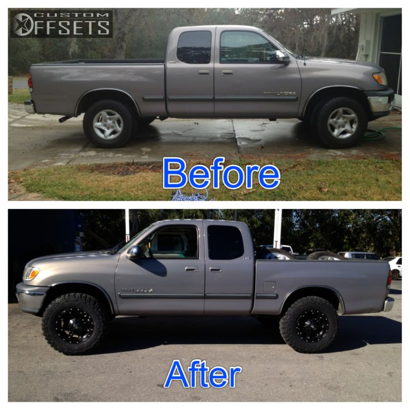 3 2001 Tundra Toyota Suspension Lift 3 Fuel Hostage Black Gunmetal Aggressive 1 Outside Fender