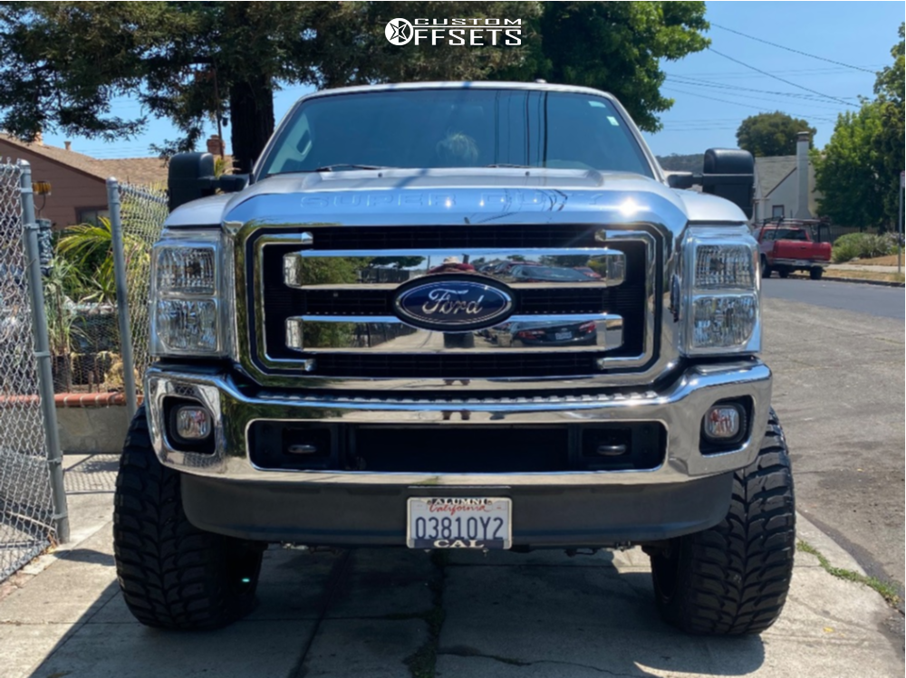 "2016 Ford F-250 Super Duty Super Aggressive 3""-5"" on 26x14 -72 offset Tuff T3b and 37""x13.5"" Road One Atheon Mt on Suspension Lift 8"" - Custom Offsets Gallery"