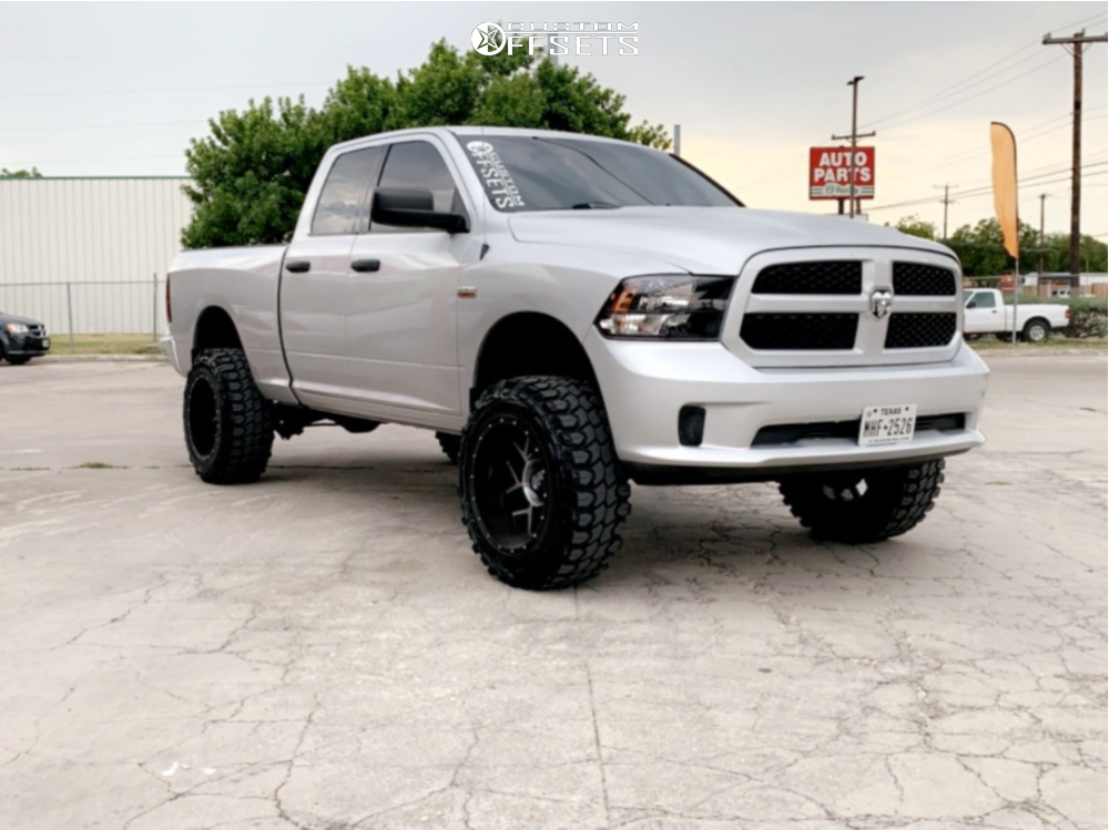 """2014 Ram 1500 Super Aggressive 3""""-5"""" on 20x12 -51 offset Vision Sliver and 35""""x12.5"""" Gladiator Xcomp Mt on Suspension Lift 6"""" - Custom Offsets Gallery"""