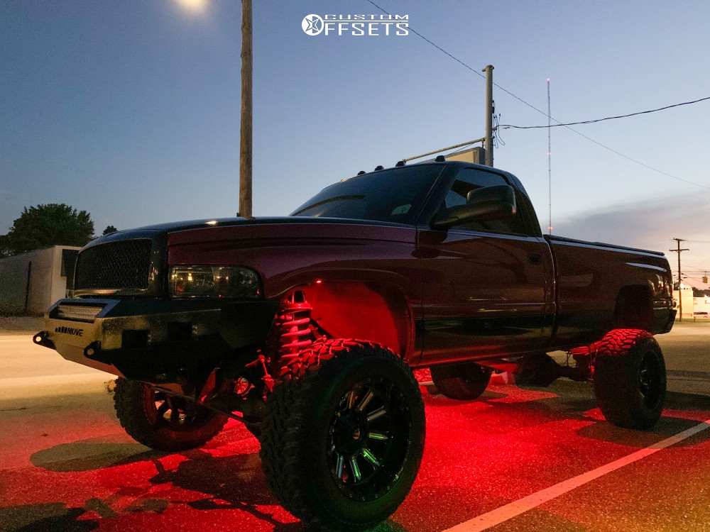 7 1997 Ram 3500 Dodge Rough Country Suspension Lift 5in Fuel Hardline Machined Black