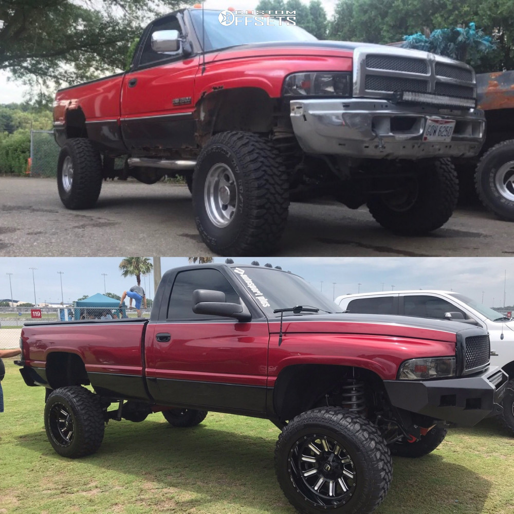 9 1997 Ram 3500 Dodge Rough Country Suspension Lift 5in Fuel Hardline Machined Black