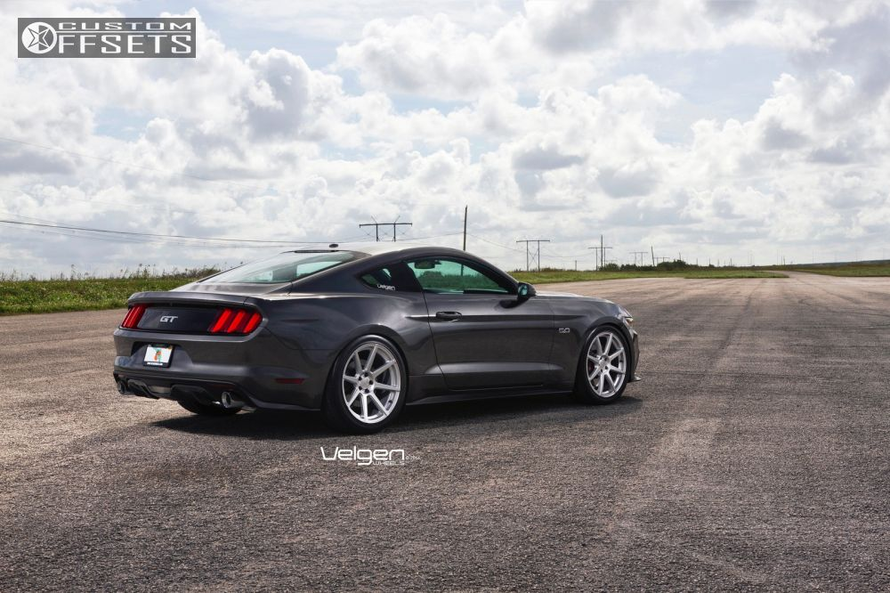 2015 Mustang Wheels >> Wheel Offset 2015 Ford Mustang Flush Dropped 0 1 Custom Rims