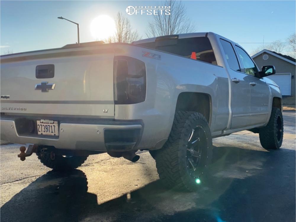 4 2016 Silverado 1500 Chevrolet Motofab Leveling Kit Hostile Alpha Machined Black