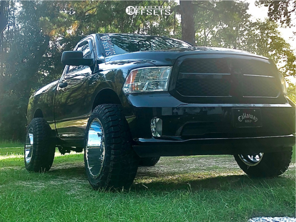 "2014 Ram 1500 Super Aggressive 3""-5"" on 20x12 -51 offset Vision Sliver and 33""x12.5"" Federal Xplora Rt on Leveling Kit - Custom Offsets Gallery"
