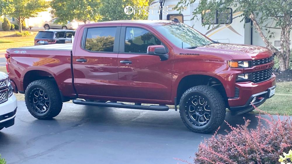 2020 Chevrolet Silverado 1500 Wheel Offset Aggressive 1 Outside Fender Stock 1267826 Custom Offsets