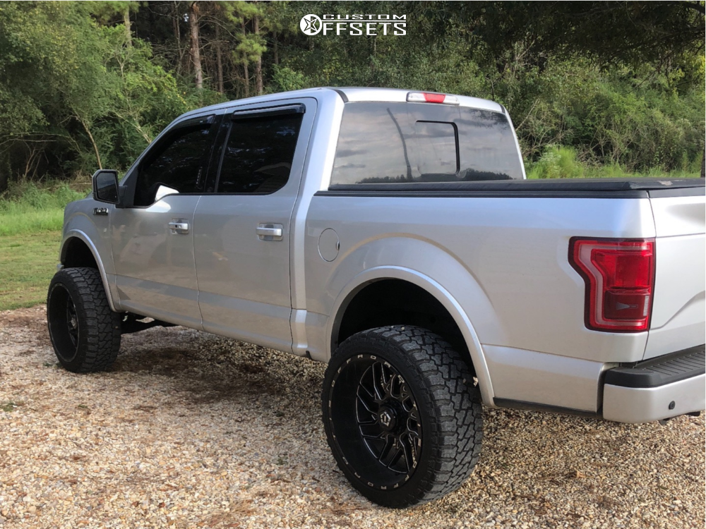 """2015 Ford F-150 Super Aggressive 3""""-5"""" on 24x12 -44 offset TIS 544bm and 35""""x12.5"""" Fury Offroad Country Hunter Mt on Suspension Lift 6"""" - Custom Offsets Gallery"""