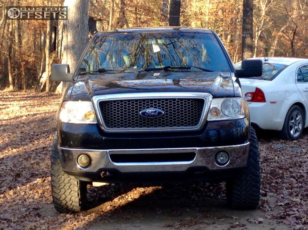 3 2007 F 150 Ford Leveling Kit Fuel Hostage Black Aggressive 1 Outside Fender