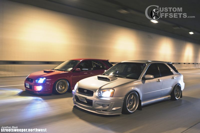 2004 subaru impreza work emotion lowered on springs custom offsets 2004 subaru impreza work emotion
