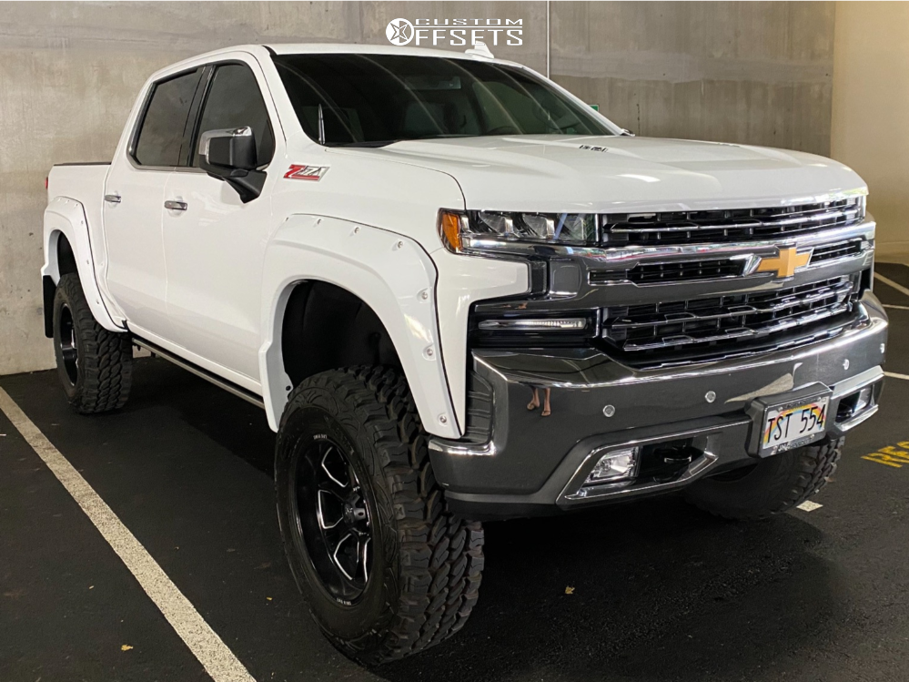 """2019 Chevrolet Silverado 1500 Aggressive > 1"""" outside fender on 20x10 -12 offset LRG 119 and 37""""x12.5"""" Pro Comp Xtreme Mt2 on Suspension Lift 8"""" - Custom Offsets Gallery"""