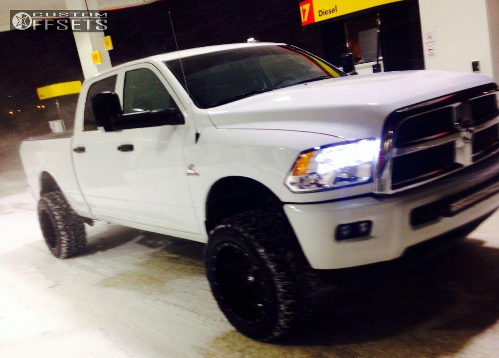 13105 1 2014 ram 2500 dodge leveling kit fuel hostage black super aggressive 3 5 - Dodge Ram 2500 44 2014