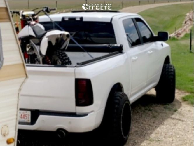 4 2015 Ram 1500 Dodge Daystar Suspension Lift 25in Fuel Maverick Black
