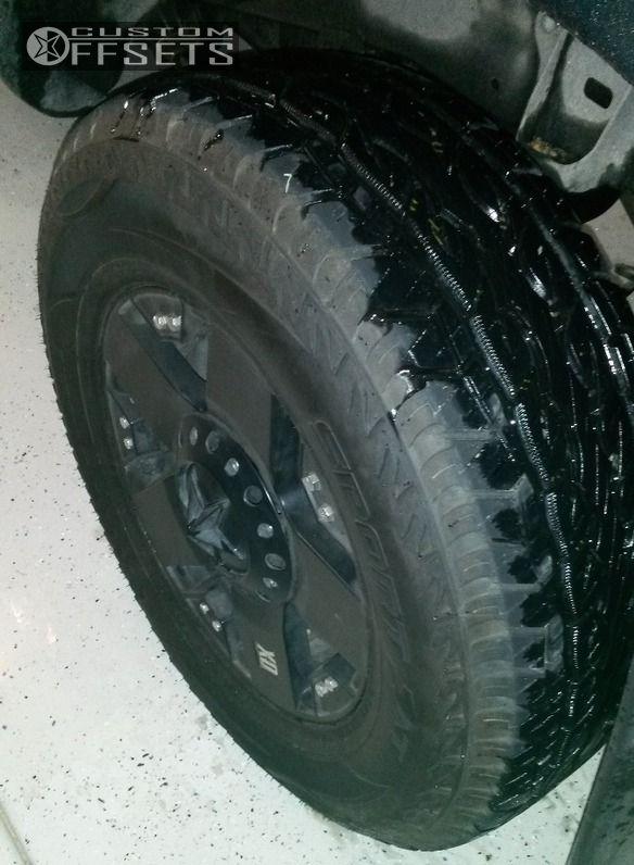 10 2010 Tacoma Toyota Suspension Lift 3 Kmc Rockstar Black Nearly Flush