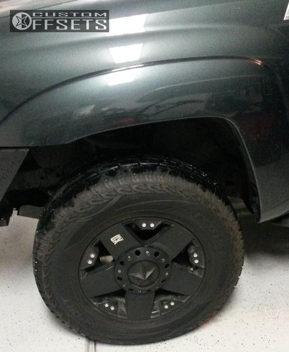 5 2010 Tacoma Toyota Suspension Lift 3 Kmc Rockstar Black Nearly Flush