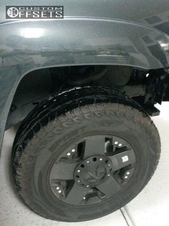 6 2010 Tacoma Toyota Suspension Lift 3 Kmc Rockstar Black Nearly Flush