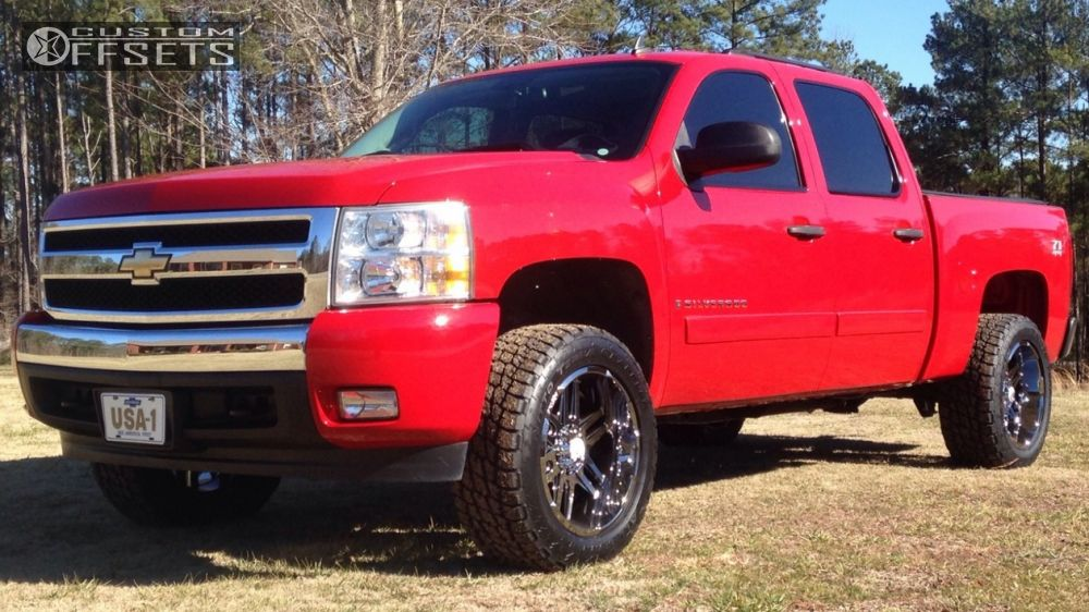 1 2007 Silverado 1500 Chevrolet Suspension Lift 35 Hostile Zombie Chrome Slightly Aggressive
