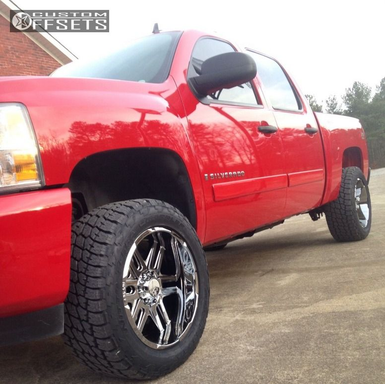 12 2007 Silverado 1500 Chevrolet Suspension Lift 35 Hostile Zombie Chrome Slightly Aggressive