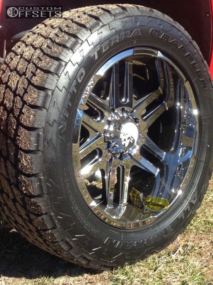 8 2007 Silverado 1500 Chevrolet Suspension Lift 35 Hostile Zombie Chrome Slightly Aggressive