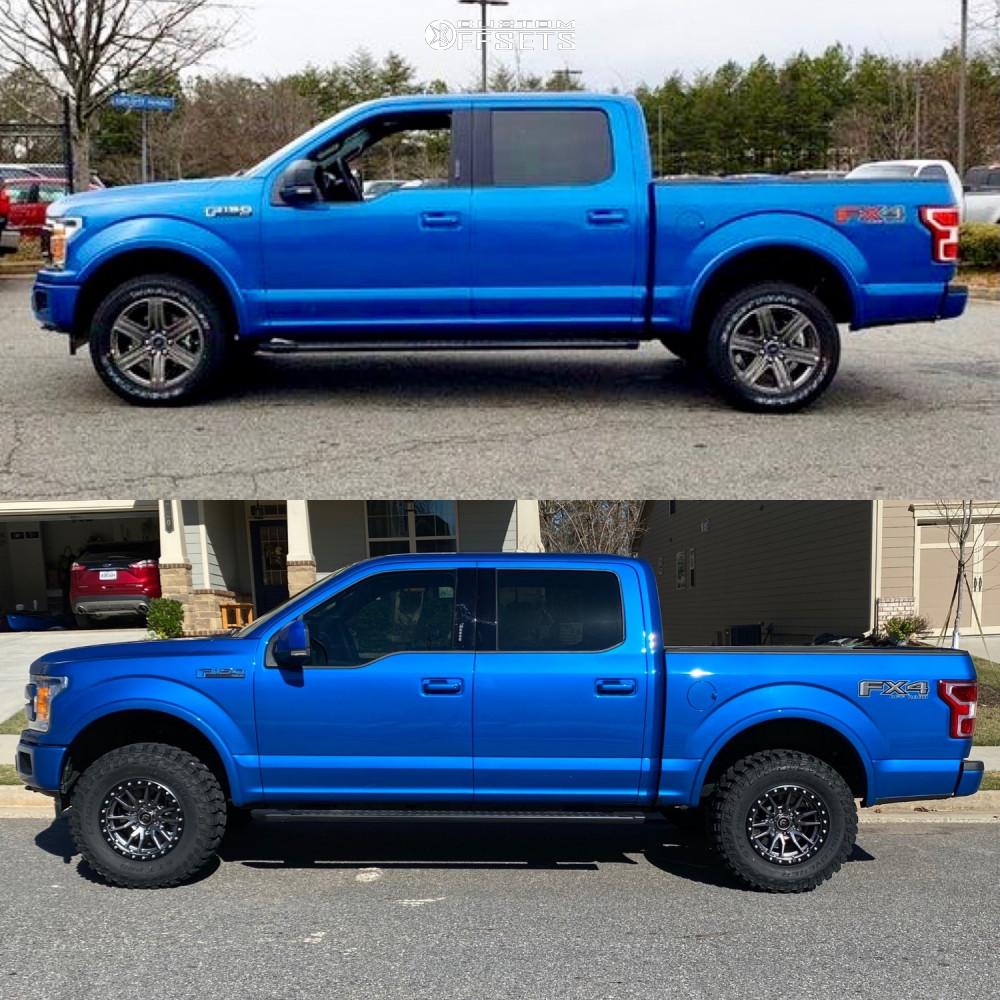 12 2020 F 150 Ford Supreme Suspension Lift 25in Fuel Rebel Anthracite