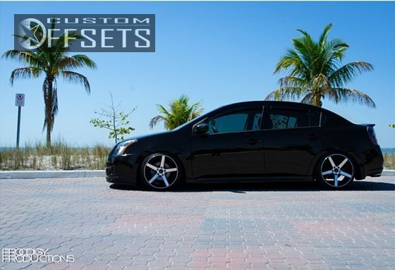 ... 2 2012 Sentra Nissan Dropped 3 Traklite Wheels Trak K Machined Accents  Slightly Aggressive ...
