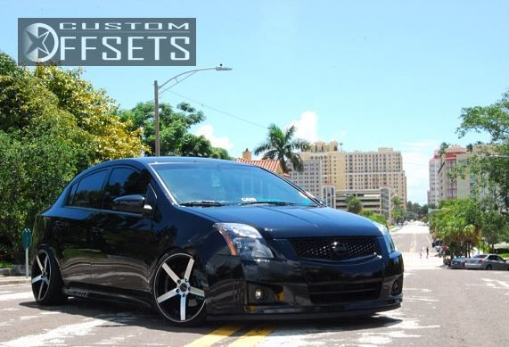 Beautiful ... 4 2012 Sentra Nissan Dropped 3 Traklite Wheels Trak K Machined Accents  Slightly Aggressive ...