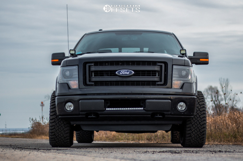"2014 Ford F-150 Slightly Aggressive on 20x10 -18 offset Anthem Off-Road Viper and 33""x12.5"" Atturo Trail Blade Xt on Stock Suspension - Custom Offsets Gallery"