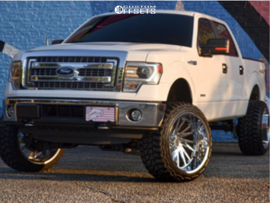 "2014 Ford F-150 Hella Stance >5"" on 24x14 -72 offset Tuff T2a and 35""x13.5"" Fury Offroad Country Hunter Mt on Suspension Lift 6"" - Custom Offsets Gallery"