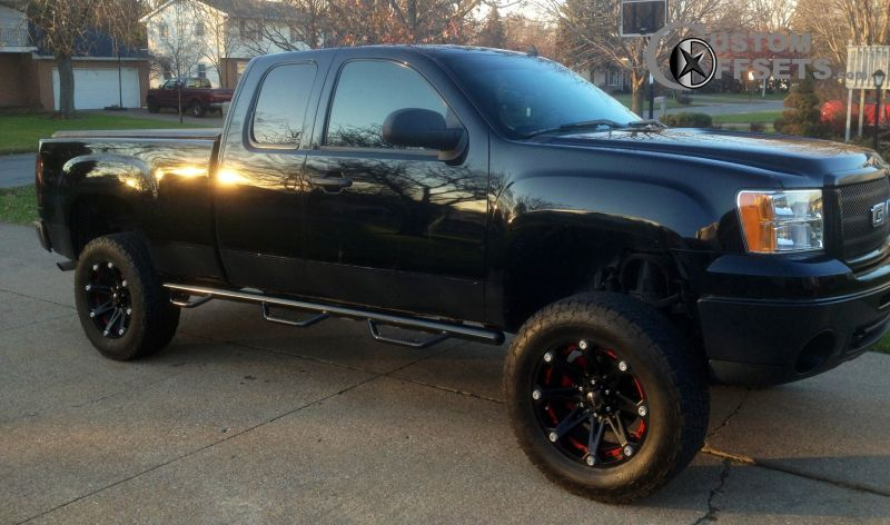 1 2011 Sierra 1500 Gmc Sle 4dr Extended Cab 65 Ft Sb 48l 8cyl 4a Suspension Lift 6 Ballistic Jesters Black Gunmetal