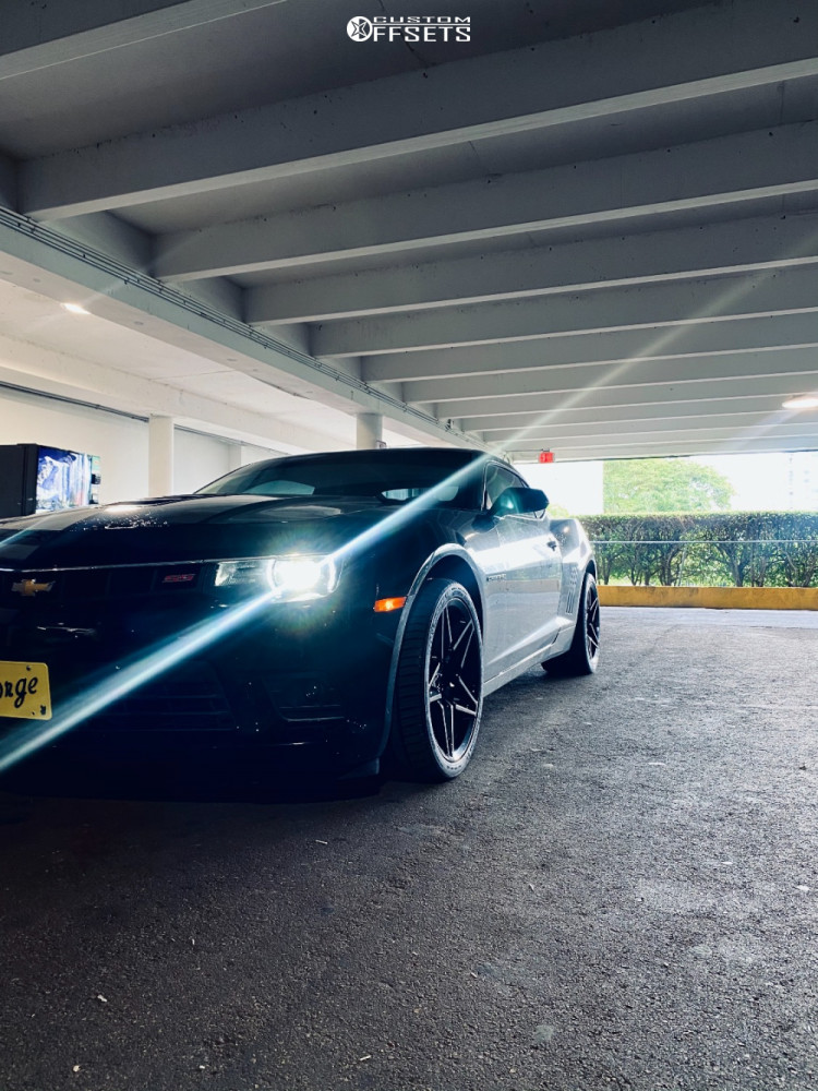 2014 Chevrolet Camaro Tucked on 19x10 23 offset MRR M755 and 285/30 Michelin Pilot Sport A/s 3 Plus on Stock Suspension - Custom Offsets Gallery