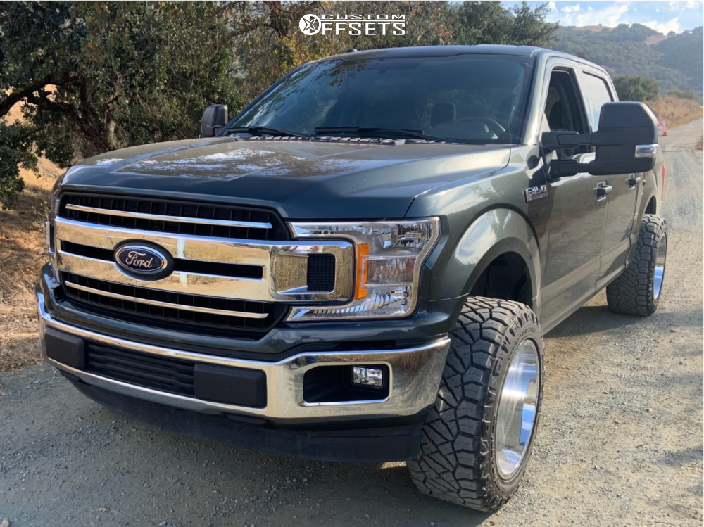 """2018 Ford F-150 Super Aggressive 3""""-5"""" on 20x12 -51 offset Vision Spyder and 33""""x12.5"""" Nitto Ridge Grappler on Leveling Kit - Custom Offsets Gallery"""