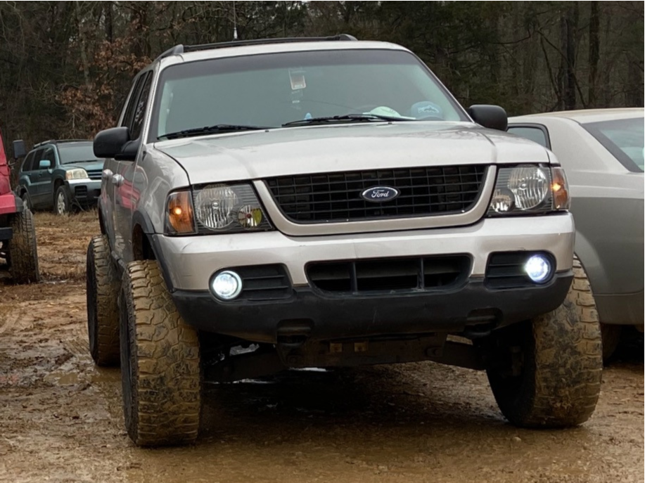 """2002 Ford Explorer Slightly Aggressive on 17x9 -12 offset Dropstars 645b and 35""""x12.5"""" Eldorado Mud Claw Extreme M/t on Suspension Lift 3"""" - Custom Offsets Gallery"""
