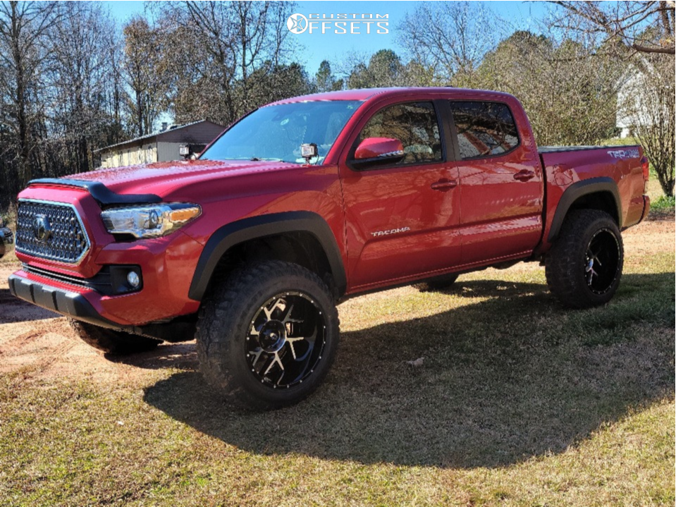 "2018 Toyota Tacoma Super Aggressive 3""-5"" on 20x12 -55 offset Vision Sliver and 275/65 Kanati Trail Hog on Suspension Lift 3"" - Custom Offsets Gallery"