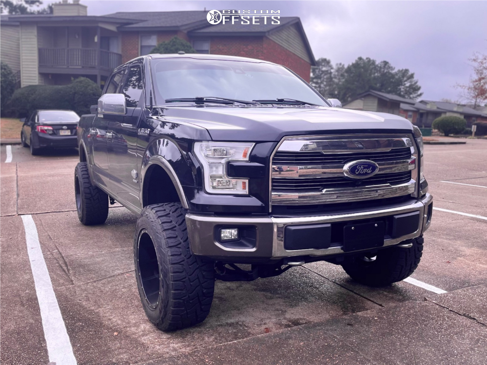 1 2016 F 150 Ford Rough Country Suspension Lift 6in Hardrock Crusher Black