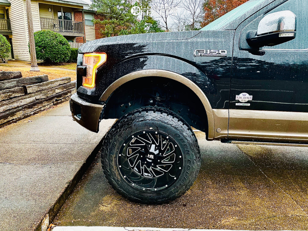 5 2016 F 150 Ford Rough Country Suspension Lift 6in Hardrock Crusher Black