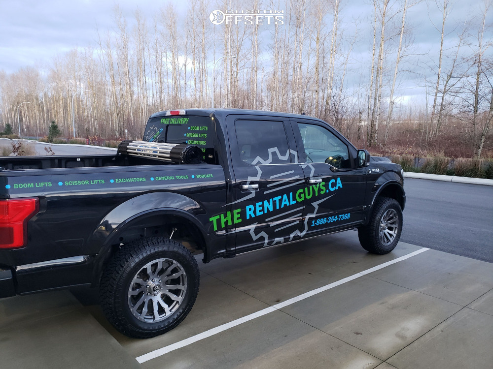 """2019 Ford F-150 Slightly Aggressive on 20x9 1 offset Fuel Blitz and 285/60 Firestone Destination Xt on Suspension Lift 3"""" - Custom Offsets Gallery"""