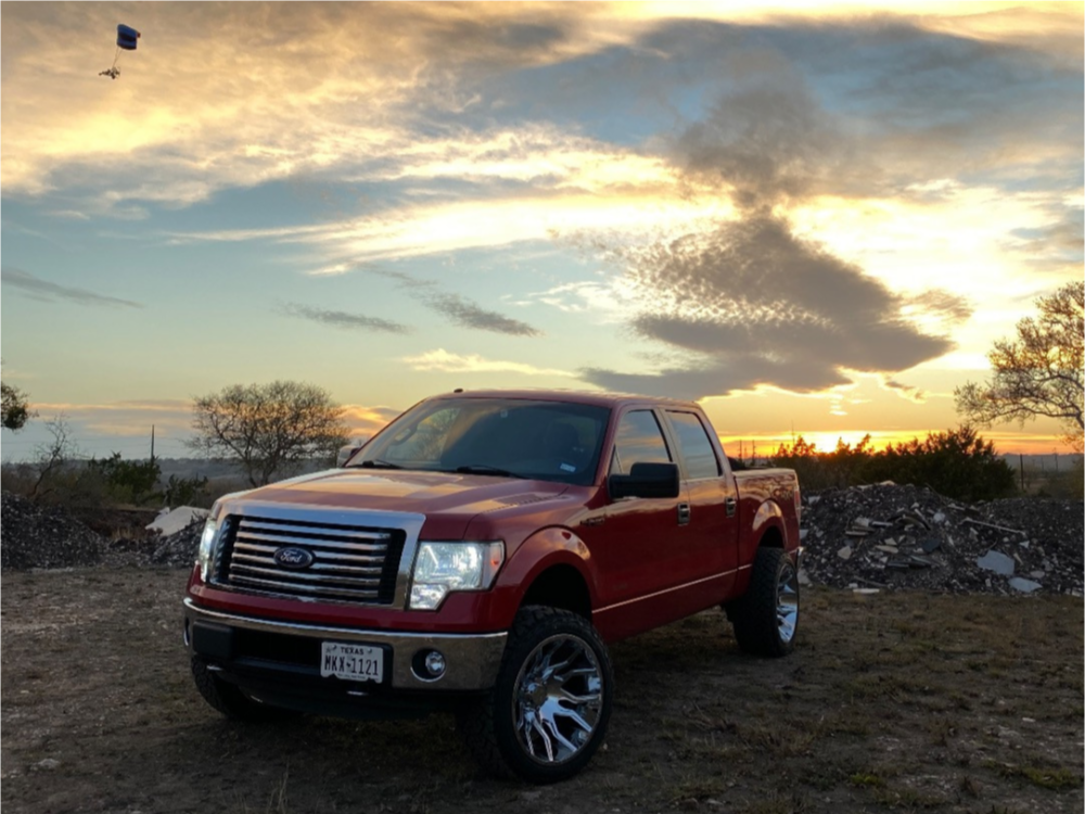 """2013 Ford F-150 Super Aggressive 3""""-5"""" on 22x12 -51 offset ARKON OFF-ROAD Roosevelt and 33""""x12.5"""" Venom Power Terra Hunter X/t on Suspension Lift 2.5"""" - Custom Offsets Gallery"""