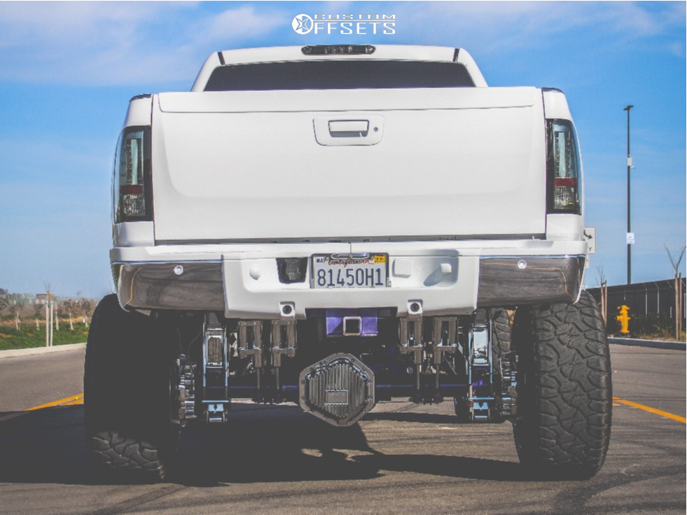 """2011 Chevrolet Silverado 2500 HD Super Aggressive 3""""-5"""" on 24x14 -76 offset Moto Metal Mo962 and 35""""x12.5"""" Delinte Dx-12 Bandit Rt on Suspension Lift 10"""" - Custom Offsets Gallery"""