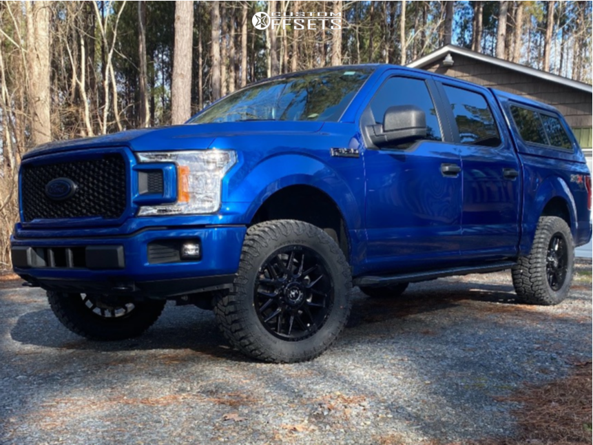 """2018 Ford F-150 Slightly Aggressive on 20x9 18 offset Motiv Magnus and 33""""x12.5"""" Patriot Patriot A/t on Leveling Kit - Custom Offsets Gallery"""