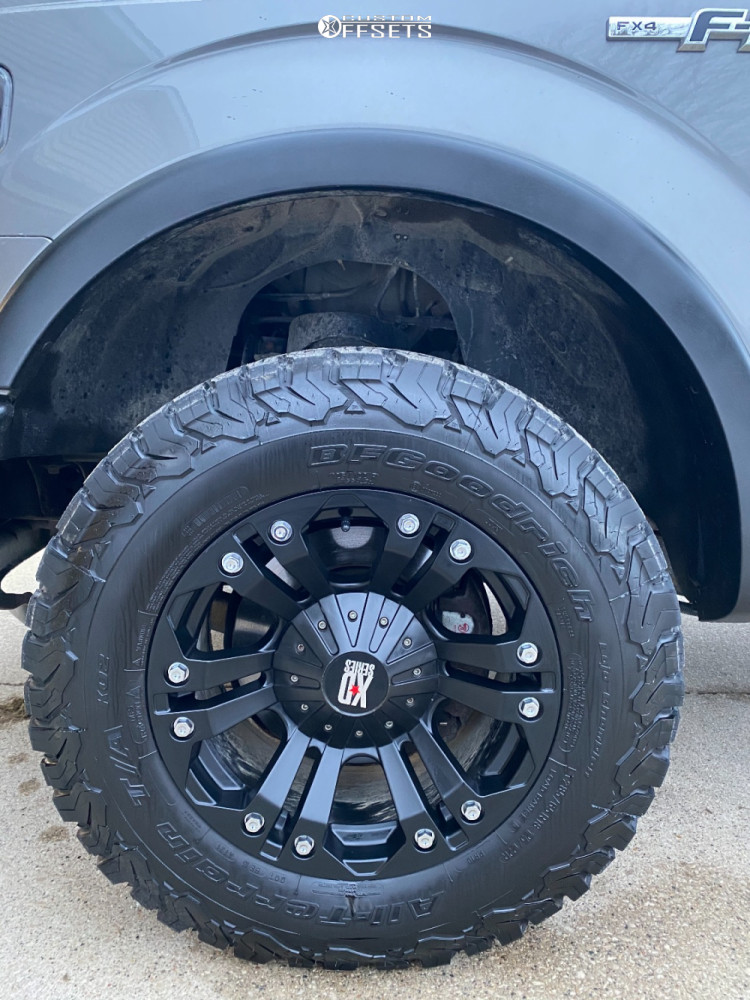 """2010 Ford F-150 Slightly Aggressive on 18x9 -18 offset XD Monster and 33""""x12.5"""" BFGoodrich All Terrain Ta Ko2 on Leveling Kit - Custom Offsets Gallery"""
